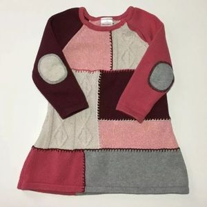 Hanna Andersson Colorblock Knit Sweater Dress 3-4